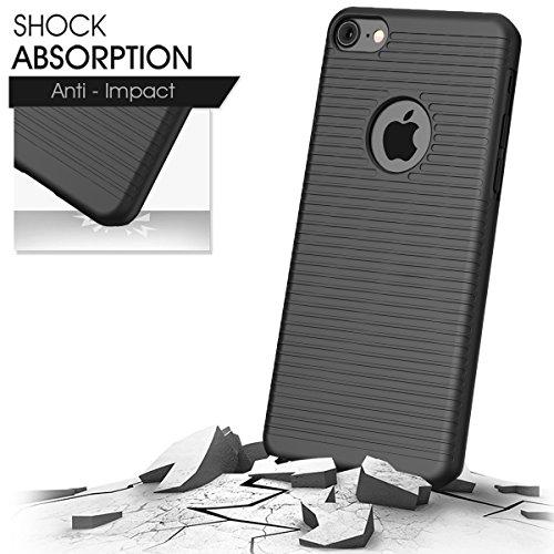 iPhone 7 Plus Custodia da cintura, Rhidon Super sottile Belt case with Holster Kickstand - Massima Protezione Da Cadute e Urti per Apple iPhone 7 Plus (Nero) iPhone 7-Nero