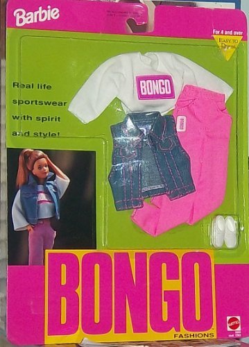 Barbie Bongo Fashions - Bongo Logo Shirt, Pants, Jean Jacket Vest, and Sneakers(1992)