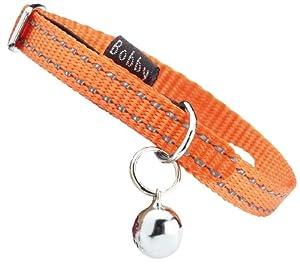 "Bobby ""safe"" Orange Reflective Cat Collar by BOBFR"