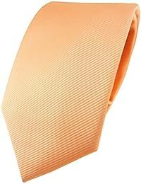 TigerTie Designer Krawatte in Uni Einfarbig - Rips Struktur - Binder Tie