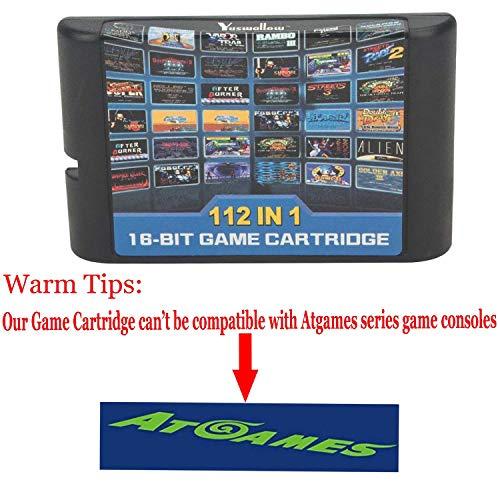 112 in 1 for Sega Megadrive Genesis Game Cartridge Include Contra Gunstar  Heroes by FLORATA