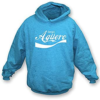 Sergio Aguero (Argentina) Enjoy-Style Hooded Football Sweatshirt (Small)