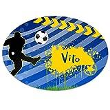 Eurofoto Türschild mit Namen Vito und Fußball-Motiv für Jungen | Kinderzimmer-Schild