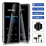 MP3 Player, Mansso 8GB Bluetooth 3D gekrümmtes Oberflächendesign 2.4 Zoll TFT Bildschirm MP3 Player mit Kopfhörer, mit Lautsprecher FM Radio Voice Recorder, Speicher Erweiterbar bis 128 GB