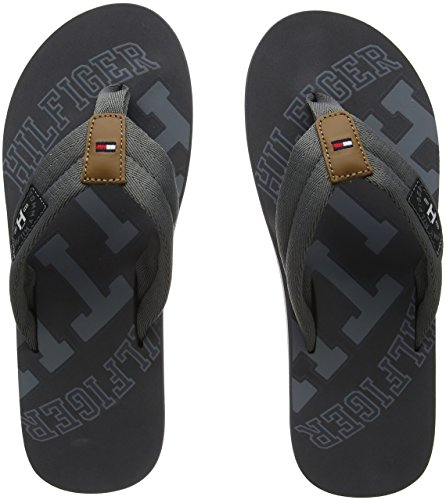 b2af834cca64d Tommy Hilfiger Men s Essential TH Beach Sandal Flip Flops