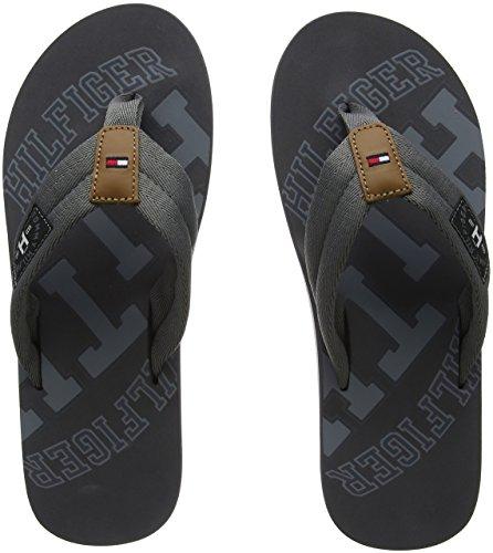 Tommy Hilfiger Herren Essential TH Beach Sandal Zehentrenner, Grau (Steel Grey 039), 43 EU