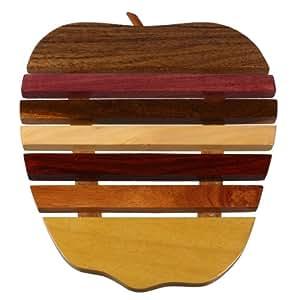 Soucoupe uS2280 dessous de plat en bois exotique naturel différents sets de table en bois précieux