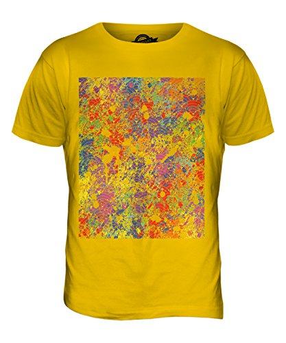 CandyMix Farbe Splatter Herren T Shirt Dunkelgelb