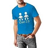 Männer T-Shirt IDad 2 Beste Vati überhaupt Geschenke für ihn Vatertagsgeschenke Geschenke für Papa (X-Large Blau Weiß)