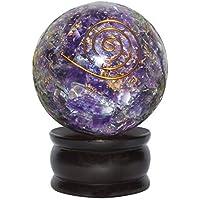 Crocon Reiki Healing Energetische Kristall Kugel Ball mit Ständer 55mm amethyst preisvergleich bei billige-tabletten.eu