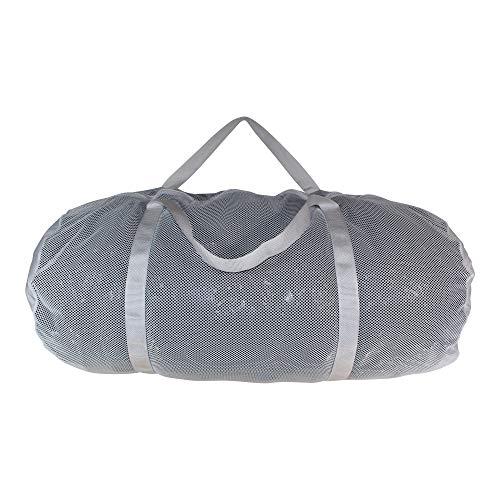 SGT Knots Mesh Duffel Bag - Mesh Bag für Ausrüstung aus Fitnessstudio, Pool, Sport Mehrzweck-Reisetasche mit Reißverschluss - Dry Travel Rucksack für Handtücher, Kleidung, Bälle, weiß, 10 in x 20 in