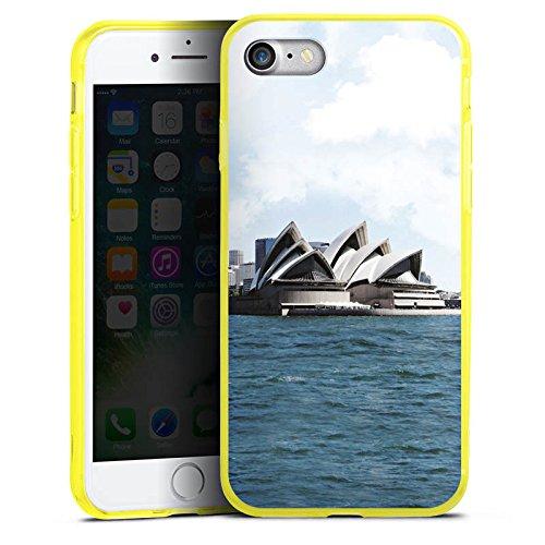Apple iPhone 8 Silikon Hülle Case Schutzhülle Sydney Australien Opera House Silikon Colour Case gelb