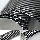 10€/m² 2 D Carbonfolie in Silber 1m x152cm dehnbar mit Luftkanalkleber
