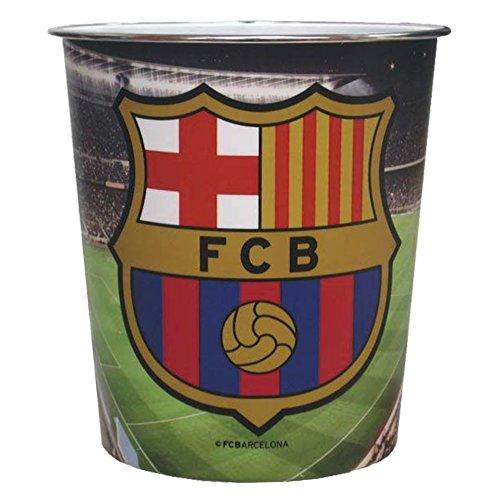CYP Imports TC-05-BC Papelera platico grande 23 x 22 cm, diseño Futbol Club Barcelona, Compuesto, Multicolor, 25x7x20 cm