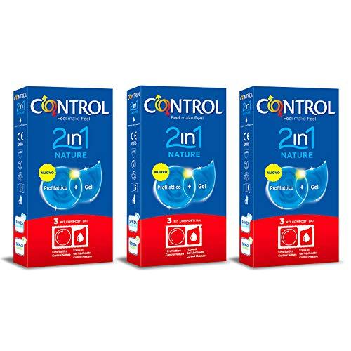CONTROL Kit 3 cajas preservativos 2in1 Nature. Cada