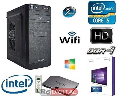 PC DESKTOP COMPLETO INTEL I5 QUAD CORE I5-4460 3,40 GHZ CASE VULTECH CON LICENZA WINDOWS 10 PROFESSIONAL 64 BIT ORIGINALE /WIFI/ HD 1TB SATA III/RAM 16GB DDR3 1600MHZ/SCHEDA GRAFICA Intel HD Graphics 4600 INGRESSI DVI-VGA /USB 2.0 3.0 AUDIO,VIDEO,LAN PC FISSO COMPLETO PER UFFICIO FAMIGLIA LAVORO SCUOLA AZIENDA GAMING - RGDIGITAL OFFICE LINE I5 16G WIN10