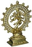 ShalinIndia Dancing divinità Shiva Nataraja Décor indù Idol per Mandir tempio in ottone 20,3cm