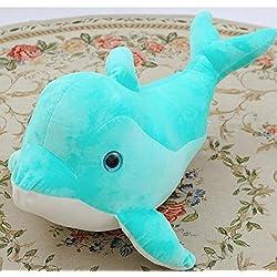 ShireyStore Cute 25cm Plush Dolphin Design Pillow Soft Dolphin Cojín de Regalo de Peluche Home Toy (Verde Menta)