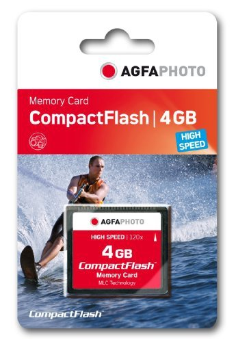 4 Gb High Speed Compactflash Karte (AgfaPhoto CompactFlash (CF) High Speed MLC 4GB Speicherkarte)