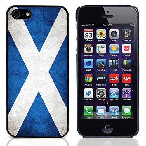 Graphic4You Vintage Uralt Flagge Von Deutschland Deutsch Design Harte Hülle Case Tasche Schutzhülle für Apple iPhone 5 und 5S Schottland Schottisch
