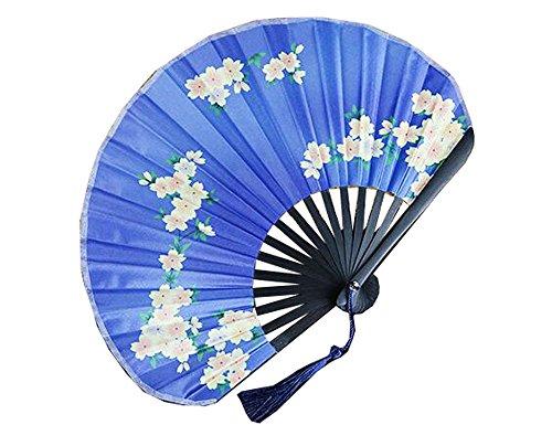 Und Ventilator Hall, der japanischen Fan japanischen Silk Fan zusammenbaut, fertigt Geschenkfan und Windmesser (Color : 08)