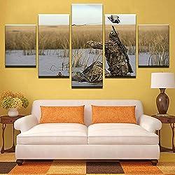 mmwin Toile s Décor À La Maison Mur Art Travail 5 Pièces Photos De Soldat pour Le Salon Prints HD Détection sous-Marine Affiches