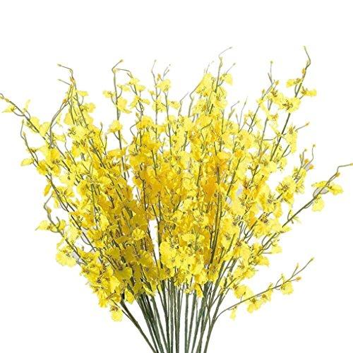 siconght 100Künstliche Blossom Blumen Simulation Oncidium Orchidee Phalaenopsis Bouquet für Hochzeit Home Office Decor