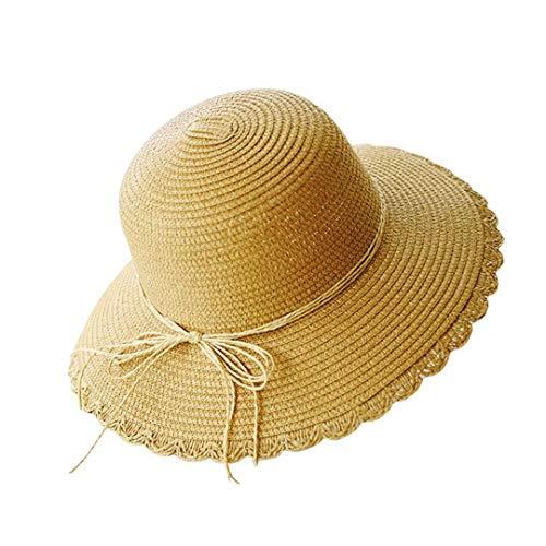 Flying Rabbit Damen Sonnenhüte Faltbarer Strohhut mit Sonnenschutz Breite Krempe (Damen-band-hats)