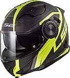 LS2 Casco Moto FF313 VORTEX Frame Carbon Hi VIS Giallo, Nero/Giallo, M
