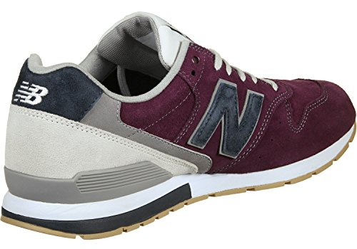 New Balance 996 Suede, Formateurs Homme bordeaux bleu gris