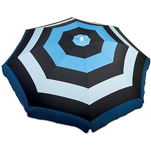 WDK Partner zyt-1608plyab-b Sonnenschirm 160cm schwarz/blau, Mehrfarbig, 1, 0000x 1, 0000cm