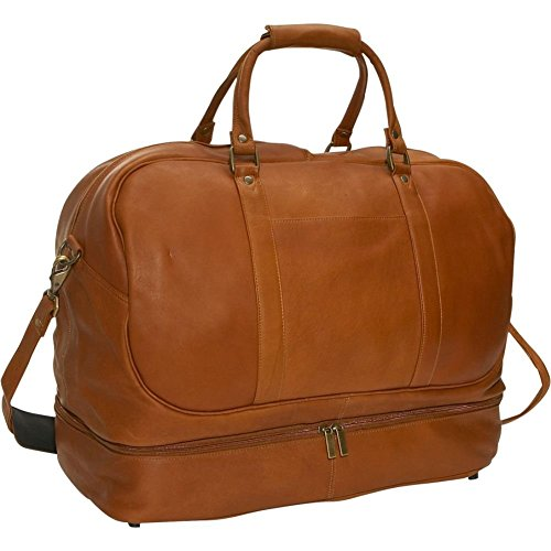 david-king-co-duffel-with-bottom-compartment-tan-one-size