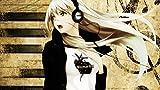 #10: Posterhouzz Music Headphones Anime Girl Music Girl HD Fine Art Paper Print Wall Poster