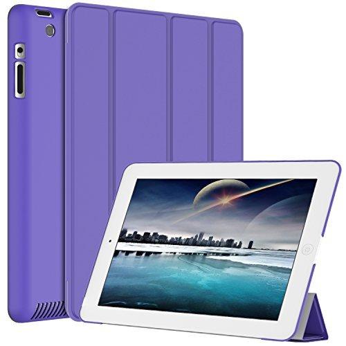 JETech Hülle für iPad 4, iPad 3 und iPad 2, Schutzhülle mit Ständer Funktion und Auto Schlaf/Wachen, Lila