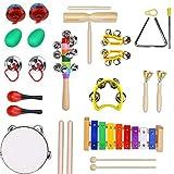 Lilhua Musikinstrument-Set Kinder-Früherziehung Musik Perkussionsspielzeug Kombination 13 Sets Von Kindergarten Lehrmittel