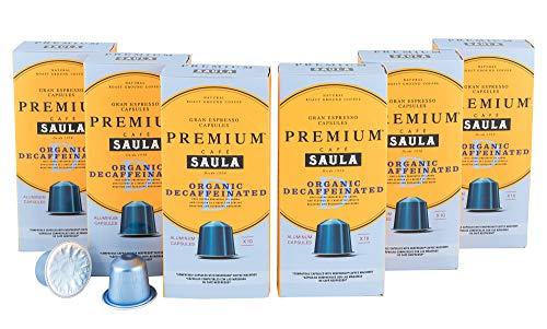 Premium Bio Entkoffeinierter Gran Espresso | 60 Aluminium Nespresso-kompatible Kaffeekapseln vom...