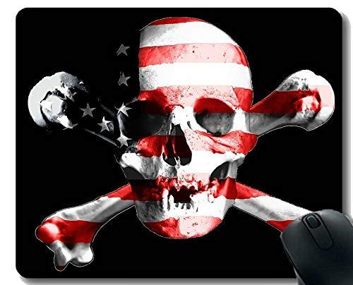 Yanteng Gaming Mouse Pad Benutzerdefinierte, Amerikanische Flagge Skelett Flagge Skelett Gaming Mauspad