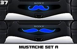 PS4 Light bar Skin for Dualshock 4 Controller - Mustache