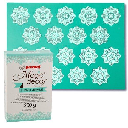 Magic Decor Matte Blumen + Magic Decor Pulver 250g von Pavoni
