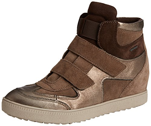 Geox D Amaranth High B, Sneaker, Donna Beige