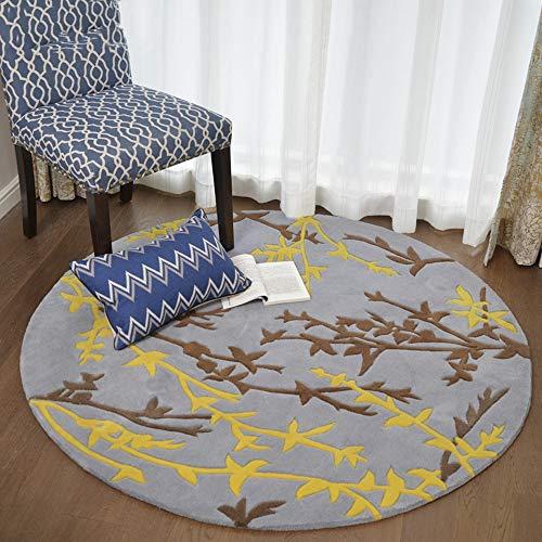 Amerikanischen handgefertigten runden Teppich Wohnzimmer Couchtisch Matte Schlafzimmer Bettdecke Nordic Kinderzimmer Stuhl Kissen europäischen Stil Zimmer (Color : Natural, Size : XXXL) -