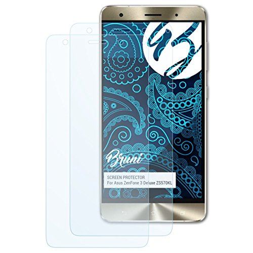 Bruni Schutzfolie kompatibel mit Asus ZenFone 3 Deluxe ZS570KL Folie, glasklare Bildschirmschutzfolie (2X)