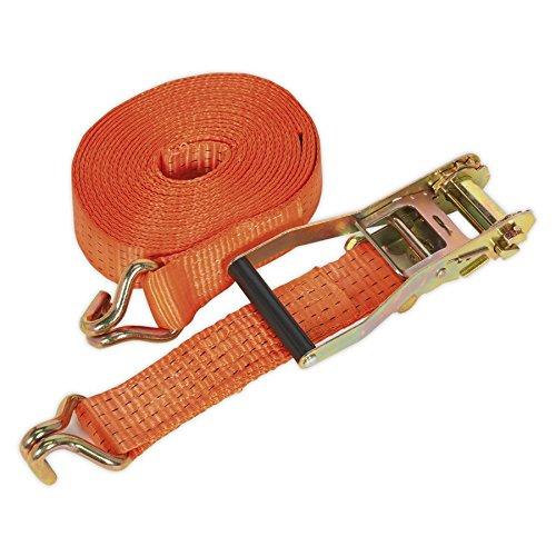 Sealey Ratchet Tie Down 50mmx6m Polyester Webbing 5000Kg Load Test TD5006J
