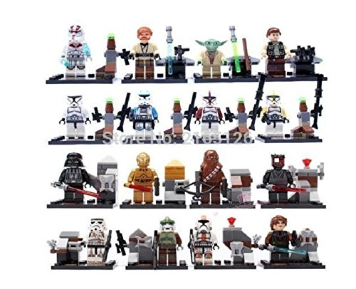 16 PC Star Wars Mini figuras Vader Darth Han Solo Yoda Skywalker montar lego