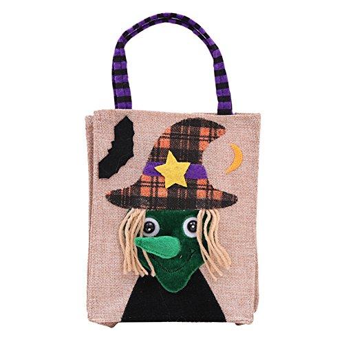 Wingbind Halloween Süßigkeiten Geschenke Taschen, Halloween Kürbis Gespenst Skeleton Animierte Dekor Vliesstoffe Taschen, Halloween Party Supplies ()
