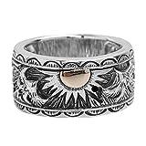 Aundiz 925 Silber Ring für Herren Sonne Adler Indisch 18.6 Gramm Gewicht Size 60 (19.1) Ringe