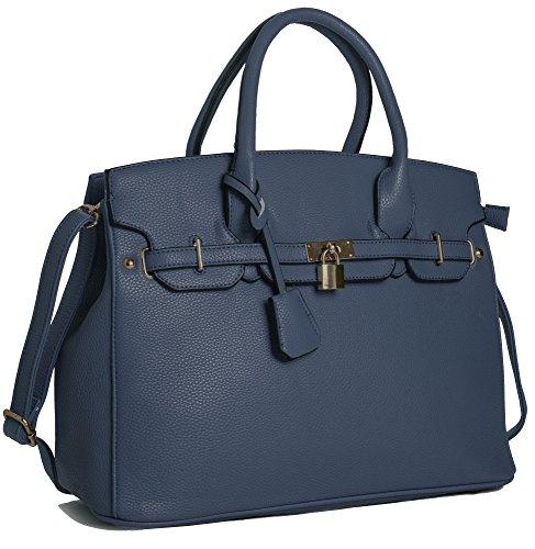 Big Handbag Shop ,  Damen Tasche (Zubehör Blaue Handtasche Damen)