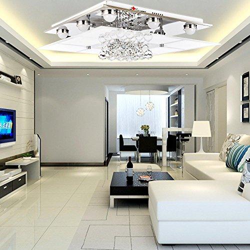 OOFAY LIGHT® einfache und graziöse Kristallleuchte 9 Stücke-Kristall-Deckenlampe für Wohnzimmer Kristall-Deckenlampe für Schlafzimmer -