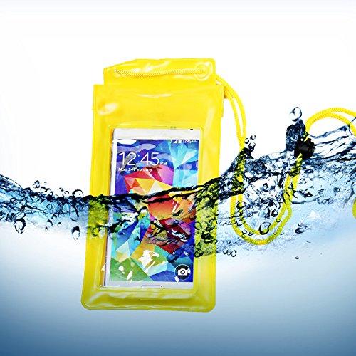 Universal Unterwasser-Displayschutzfolie Tasche Dry Schutzhülle für Mobiltelefone iphones Samsung Galaxy Nokia Digital Kamera Kreditkarten/Geld Halter (gelb)