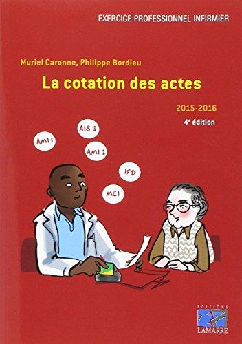 La cotation des actes 2015-2016